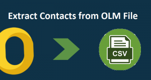 Extract Contacts from OLM file