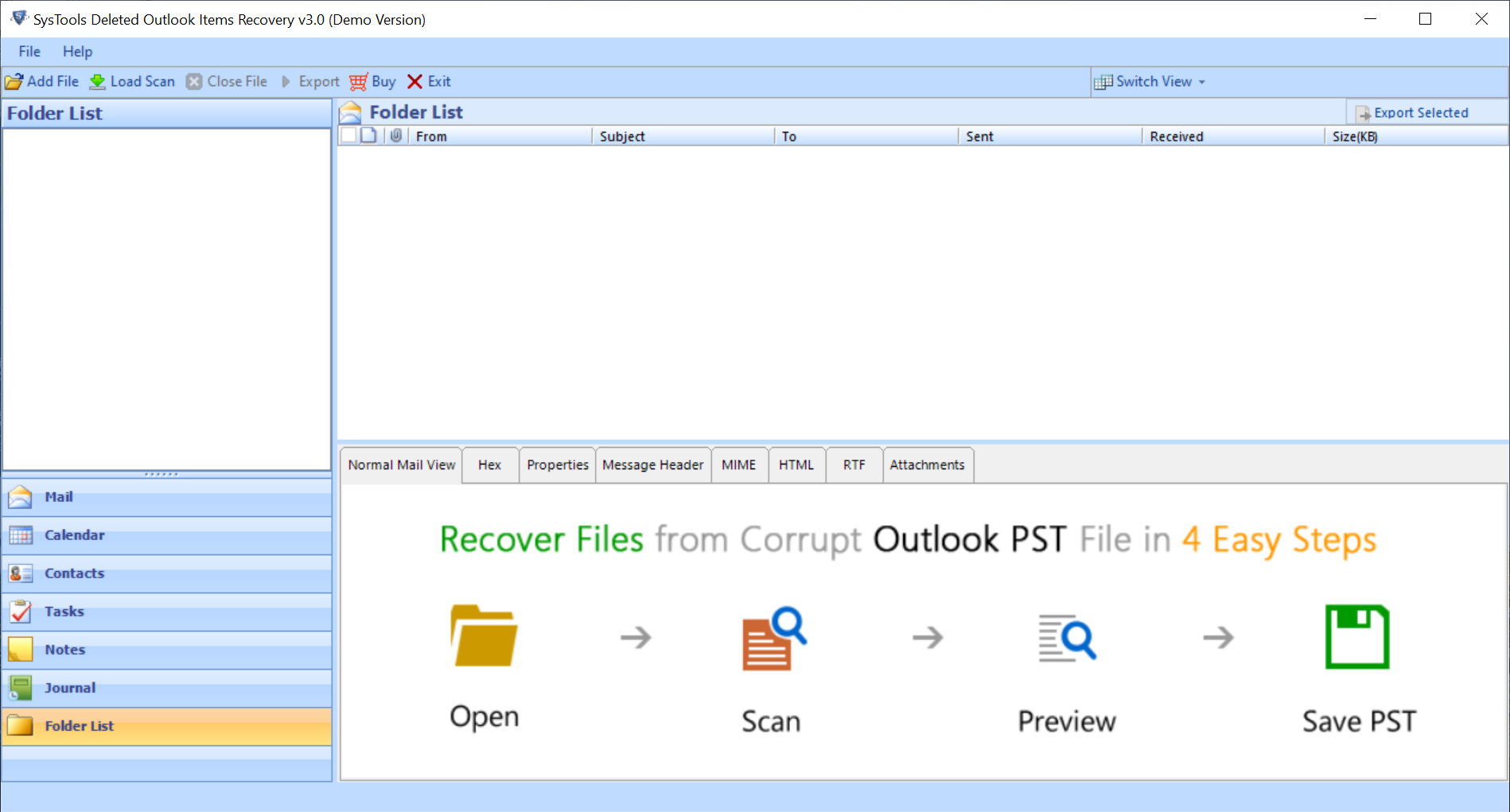 Outlook Deleted Folder Recovery Software
