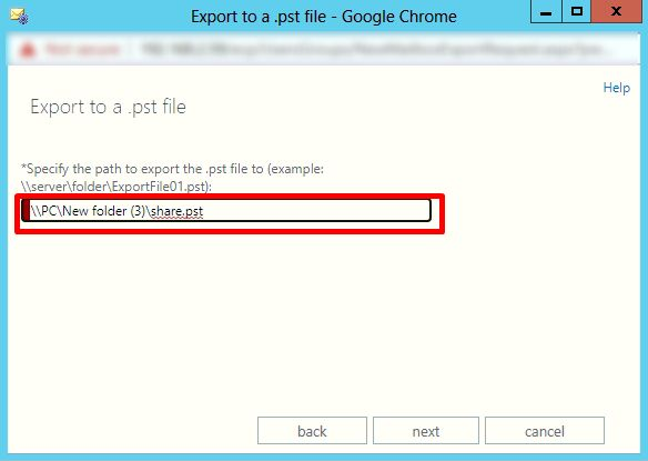 insert target file path