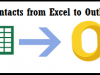 Import Contacts from Excel to Outlook 2010 Contact Group