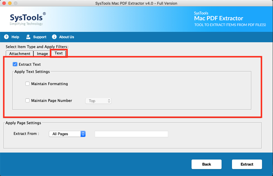 how to extract formatted text from PDF