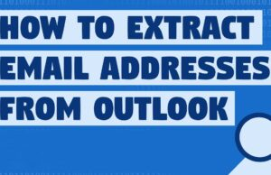 how to extract email addresses from outlook calendar invite