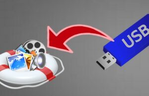 How to get files back after formatting USB