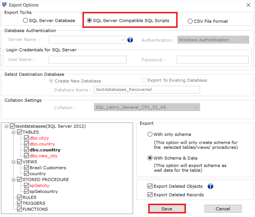 Export SQL Server Data to SQL Script